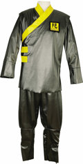 "Movie/TV Memorabilia:Costumes, Guard Costume from ""Austin Powers in Goldmember."" Metallic gray andyellow smock and pants worn by a Roboto Industries secur... (Total:1 Item)"