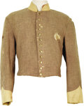 "Movie/TV Memorabilia:Costumes, ""Gone With the Wind"" Costume CSA Uniform Jacket. A Confederatecavalry jacket worn by an extra in the 1939 Civil War classic...(Total: 1 Item)"