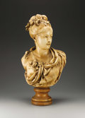 Decorative Arts, Continental:Other , Continental Bust of June Femme Coiffée de Roses. . After AlbertErnest Carrier-Belleuse (French 1824-1887), . Late 19th/earl...