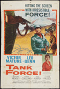 "Movie Posters:War, Tank Force and Other Lot (Columbia, 1958). One Sheets (2) (27"" X41""). War.. ..."