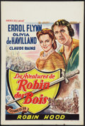 "Movie Posters:Swashbuckler, The Adventures of Robin Hood (Warner Brothers, R-1948). Belgian (14"" X 21""). Swashbuckler.. ..."