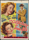 """Movie Posters:Comedy, The Bachelor and the Bobby Soxer (RKO, 1947). Belgian (14"""" X 19""""). Comedy.. ..."""