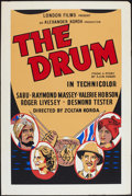 "Movie Posters:Adventure, The Drum (London Film, R-1950s). British One Sheet (27"" X 40"").Adventure.. ..."