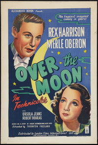"""Over the Moon (London Films, R-1940s). British One Sheet (27"""" X 40""""). Comedy"""