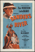"Movie Posters:Adventure, Sanders of the River (London Films, Late 1940s). British One Sheet(27"" X 40""). Adventure.. ..."