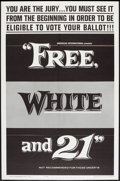 "Movie Posters:Exploitation, Free, White and 21 (American International, 1963). One Sheets (5)(27"" X 41""). Style B. Exploitation.. ... (Total: 5 Items)"