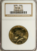 Kennedy Half Dollars: , 1978 50C MS66 NGC. NGC Census: (33/5). PCGS Population (120/27).Mintage: 14,350,000. (#6733)...