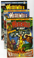 Bronze Age (1970-1979):Horror, Werewolf by Night Group (Marvel, 1973-98) Condition: Average VF....(Total: 23 Comic Books)