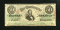 Confederate Notes:1863 Issues, T57 $50 1863.. . ...