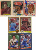 Autographs:Sports Cards, 1980's Mike Schmidt Autographed Card Group Lot of 7. Mike Schmidt,HOF member and a three-time NL MVP Award recipient with t...