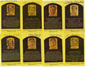 Autographs:Post Cards, Signed Gold Hall of Fame Plaques Lot of 16. A total of 16 gold Hallof Fame plaque postcards is offered here, each signed b...