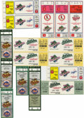 Baseball Collectibles:Tickets, 1987-97 MLB Tickets/Stubs Lot of 16. Great group from the yearsspanning 1987-97, totals 16 in number and includes several ...