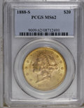 Liberty Double Eagles: , 1888-S $20 MS62 PCGS. PCGS Population (746/315). NGC Census: (637/211). Mintage: 859,600. Numismedia Wsl. Price: $800. (#90...