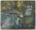 Fine Art - Painting, American:Other , TWENTIETH CENTURY SCHOOL. Tree Reflections. Oil on masonite.20in. x 23-3/4in.. Signed illegibly at lower right. ... (Total: 1Item)