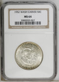1952 50C Washington-Carver MS64 NGC. NGC Census: (905/1208). PCGS Population (1552/976). Mintage: 2,006,292. Numismedia...