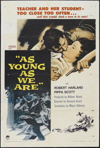 """As Young As We Are (Paramount, 1958). One Sheet (27"""" X 41""""). Romance. Starring Robert Harland, Pippa Scott, Ma..."""