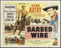 """Movie Posters:Western, Barbed Wire (Columbia, 1952). Half Sheet (22"""" X 28""""). Western...."""
