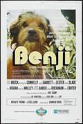 "Movie Posters:Adventure, Benji (Mulberry Square Releasing, 1974). One Sheet (27"" X 41"").Family Adventure. Starring Patsy Garrett, Allen Fiuzat, Cynt..."