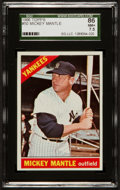 Baseball Cards:Singles (1960-1969), 1966 Topps Mickey Mantle #50 SGC 86 NM+ 7.5....