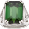 Estate Jewelry:Rings, Tourmaline, Diamond, Platinum Ring, Kieselstein-Cord. ...
