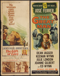 """The Great Man & Other Lot (Universal International, 1957). Inserts (2) (14"""" X 36""""). Drama. ... (Total:..."""