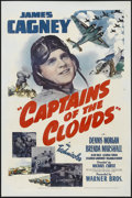 "Movie Posters:War, Captains of the Clouds (Warner Brothers, 1942). One Sheet (27"" X41""). War. Starring James Cagney, Dennis Morgan, Brenda Mar..."