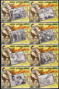 "Casablanca (United Artists, R-Early 1950s). Mexican Lobby Card Set of 8 (13.5"" X 16.5""). Romantic Drama. Starr..."