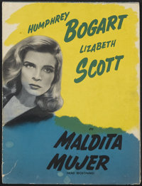 "Dead Reckoning (Columbia, 1947). Spanish Language Mailer (9.5"" X 12.5""). Film Noir. Starring Humphrey Bogart..."