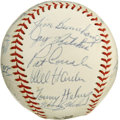Autographs:Baseballs, 1968 Cincinnati Reds Team Signed Baseball. Twenty-four members ofthe 1968 Cincinnati Reds have checked in on the provided ...