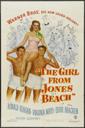 "Movie Posters:Comedy, The Girl From Jones Beach (Warner Brothers, 1949). One Sheet (27"" X 41""). Comedy. Starring Ronald Reagan, Virginia Mayo, Edd..."