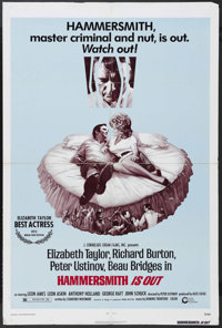 """Hammersmith Is Out (Cinerama Releasing, 1972). One Sheet (27"""" X 41""""). Comedy. Starring Elizabeth Taylor, Richa..."""