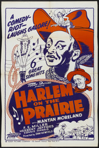 "Harlem on the Prairie (Toddy Pictures, R-1940s). One Sheet (27"" X 41""). Western. Starring Herb Jeffries, Manta..."