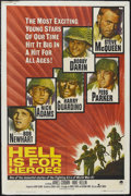 "Movie Posters:War, Hell Is for Heroes (Paramount, 1962). One Sheet (27"" X 41""). War.Starring Steve McQueen, Bobby Darin, Fess Parker, Harry Gu..."
