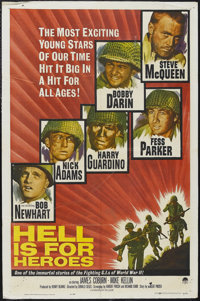 """Hell Is for Heroes (Paramount, 1962). One Sheet (27"""" X 41""""). War. Starring Steve McQueen, Bobby Darin, Fess Pa..."""