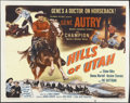 "Movie Posters:Western, Hills of Utah (Columbia, 1951). Half Sheet (22"" X 28""). Western.Starring Gene Autry, Champion, Elaine Riley, Donna Martell,..."