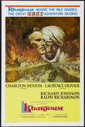 "Movie Posters:Action, Khartoum (United Artists, 1966). One Sheet (27"" X 41"") Style A.This is the rare Cinerama One Sheet. The 1880s battle for Kh..."