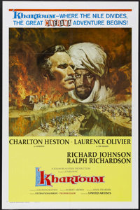 """Khartoum (United Artists, 1966). One Sheet (27"""" X 41"""") Style A. This is the rare Cinerama One Sheet. The 1880s..."""