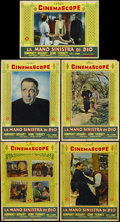 "Movie Posters:Drama, The Left Hand of God (20th Century Fox, 1955). Italian Photobustas (9) (19.5"" X 26.5""). Drama. Starring Humphrey Bogart, Gen... (Total: 9 Item)"