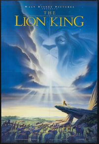 "The Lion King (Buena Vista, 1994). One Sheet (27"" X 40""). Animated Musical. Starring the voices of Jonathan Ta..."