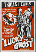 "Movie Posters:Comedy, Lucky Ghost (Toddy Pictures, R-1943). One Sheet (27"" X 41""). Comedy. Starring Mantan Moreland, F.E. Miller, Florence O'Brien..."