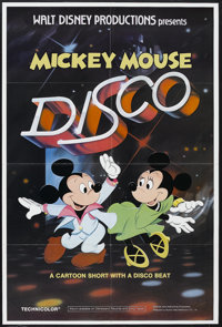 "Mickey Mouse Disco (Buena Vista, 1980). One Sheet (27"" X 41""). Animated Musical. Directed by Norman Ferguson..."