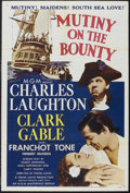 "Movie Posters:Drama, Mutiny On The Bounty (MGM, R-1957). One Sheet (27"" X 41"").Adventure. Starring Clark Gable, Charles Laughton, FranchotTone,..."