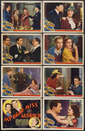 "Movie Posters:Comedy, My Dear Miss Aldrich (MGM, 1937). Lobby Card Set of 8 (11"" X 14"").Comedy. Starring Edna May Oliver, Maureen O'Sullivan, Wal...(Total: 8 Item)"