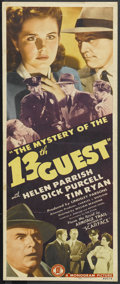"""Movie Posters:Mystery, Mystery of the 13th Guest (Monogram, 1943). Insert (14"""" X 36"""").Mystery. Starring Dick Purcell, Helen Parrish, Tim Ryan, Fra..."""