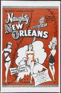 "Movie Posters:Bad Girl, Naughty New Orleans (Rebel Pictures, 1954). One Sheet (27"" X 41"").Bad Girl. Starring Julianne, Bob Carney, Harry Rose, Jean..."