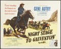 "Movie Posters:Western, Night Stage to Galveston (Columbia, 1952). Half Sheet (22"" X 28"").Western. Starring Gene Autry, Champion, Virginia Huston, ..."