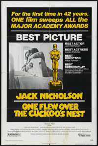 """One Flew Over the Cuckoo's Nest (United Artists, 1975). Academy Awards One Sheet (27"""" X 41""""). Drama. Starring..."""