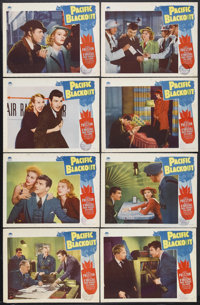 "Pacific Blackout (Paramount, 1941). Lobby Card Set of 8 (11"" X 14""). Mystery Thriller. Starring Robert Preston..."