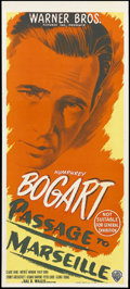 "Movie Posters:War, Passage to Marseille (Warner Brothers, 1944). Australian Daybill(13"" X 30""). War Drama. Starring Humphrey Bogart, Claude Ra..."