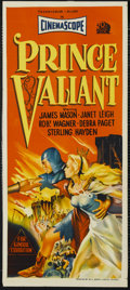 "Movie Posters:Adventure, Prince Valiant (20th Century Fox, 1954). Australian Daybill (13"" X30""). Adventure. Starring James Mason, Janet Leigh, Rober..."